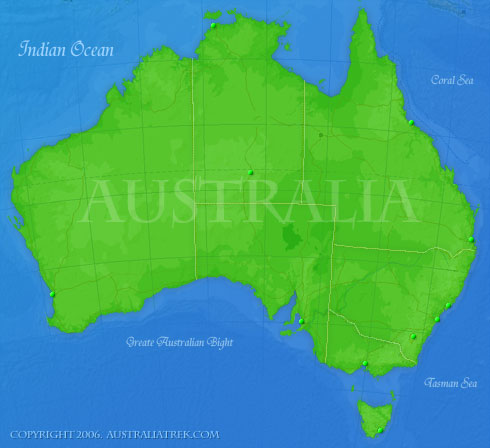 Map Of Australia Regions Oblasts Cities Towns And More - Australia map with cities and towns